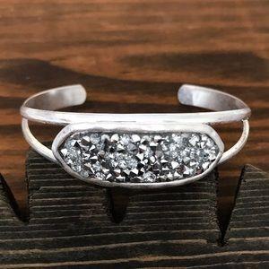 Jewelry - Sparkling Silver Rhinestone Cuff Bracelet